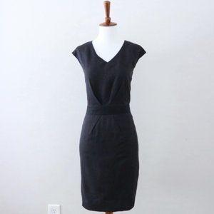 Brooks Brothers Loro Piana Black Sheath Dress Sz 4